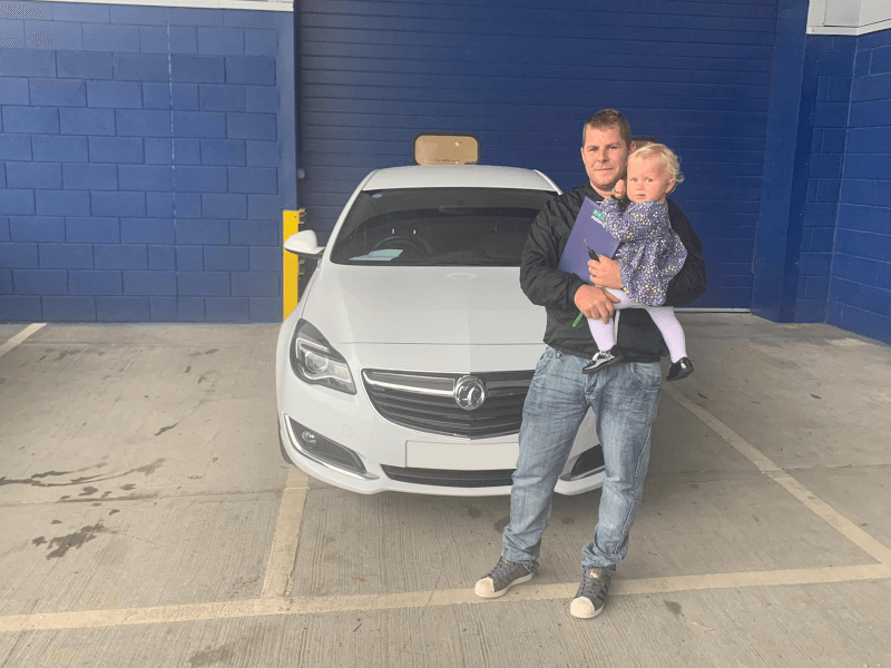 Receiving their new car