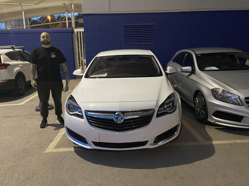 Receiving their new car